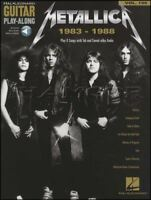Metallica 1983 1988 Guitar Play-Along TAB Music Book and Audio Master of Puppets