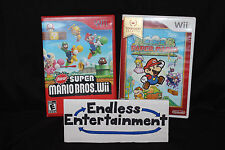 New Super Mario Bros. Wii & Super Paper Mario Lot Nintendo Wii Tested!