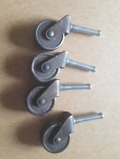 Set of 4 Vintage Metal Furniture Chair or Other Casters 1.25 x. 5