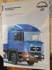 Prospekt Sales Brochure MAN Unterflur Baureihe LKW Truck Technische Daten Laster
