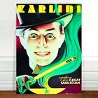 "Stunning Vintage Theatre Poster Art ~ CANVAS PRINT 16x12"" ~ Karlini Great magic"