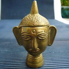 Bouddha Bronze Doré Massif Beaux Reliefs Fabrication Inde 9 x 6 x 4 Cm -240 Grs