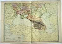 Southern Russia - Original 1882 Map by Blackie & Son. A Czarist Era Antique