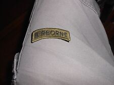Airborne Tab - Olive Drab - Military Issue Patch