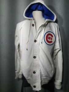 NWOT Mitchell & Ness Chicago Cubs Hoodie Jacket XL Cotton Cooperstown Collection