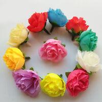 10X Artificial Silk Rose Flower Heads Bridal Wedding Party Home Craft DIY Decor