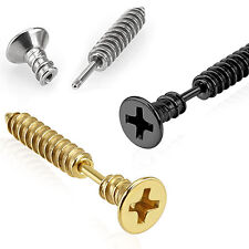/ Helix Barbell Piercing 1.2mm x 6mm Phillips / Pozi Screw Cartilage / Tragus