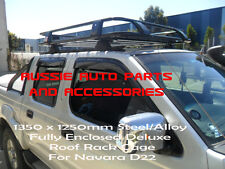Deluxe Alloy Roof Rack Cage 1350x1250mm for Nissan Navara D23 DualCab Rack Alloy