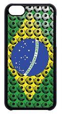 for Apple iPhone 4 4s 5 5s 5c 6 6 Plus Brazilian Flag Soccer futbol Case Cover