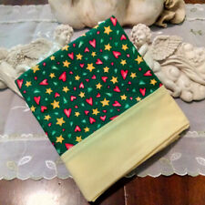 Country Cottage Kids Yellow Stars, Red Hearts, Green Trees Pillowcase - New