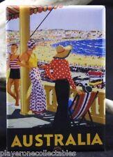 """Australia Vintage Travel Poster 2"""" X 3"""" Fridge / Locker Magnet."""