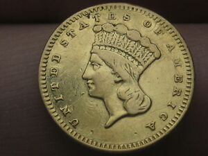 1859 S $1 Gold Liberty Head One Dollar Coin- VF/XF Details