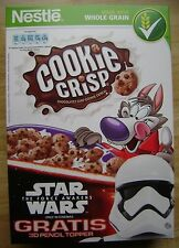 STAR WARS: THE FORCE AWAKENS SLOVENIA EMPTY CEREAL BOX NESTLE COOKIE CRISP
