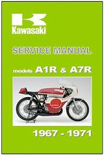 KAWASAKI Workshop Manual A1 A1R and A7 A7R 1967 1968 1969 1970 and 1971 Service