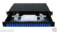 Fiber Optic Patch Panel,1U Rackmount,24 Port Loaded SC/LC adapter with pigtail