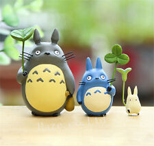 3pcs/Set Anime My Neighbor Totoro Resin Model Toys Action Figures Figurine Toys