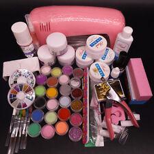 Full Set Pro Nail Dryer 9w Uv Lamp 24 Color Acrylic Powder Nail Art Kit Gel Tool