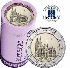 Kölner Dom 25 x 2 Euro Deutschland 2011 bankfrisch in original Rolle Mzz. D