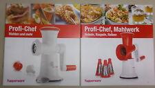 NEU OVP Tupperware 2x Rezepthefte für Profi-Chef und Profi-Chef Mahlwerk