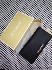 Genuine Michael Kors Black Saffiano Leather Jet Set Travel Purse Wallet sales ..