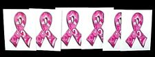 Breast Cancer Temporary Tattoo Awareness Pink Paisley Camo Ribbon 6 pieces New
