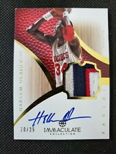 2012-13 HAKEEM OLAJUWON PANINI IMMACULATE AUTO PATCH JERSEY SP GAME-USED #20/25!