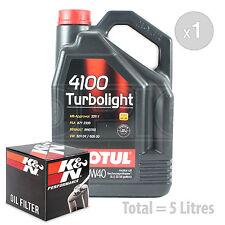Engine Oil and Filter Service Kit 5 LITRES Motul 4100 Turbolight 10W-40 5L