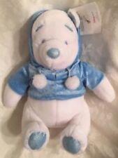 Disney Store WINNIE THE POOH Snowflake Teddy Bear Collection Blue Stuffed Plush
