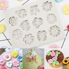 Silicone Flower Lace Fondant Mould Cake Rose Plants Decorating mould