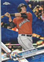 JUSTIN BOUR 2017 TOPPS CHROME SAPPHIRE EDITION #594 ONLY 250 MADE