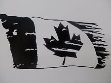 Rustic Canadian Flag Camo Decal,Windshield decal Ford Chevy  Harley Dodge Truck