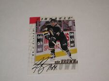 ROB BROWN AUTOGRAPHED 1998 PINNACLE BE A PLAYER CARD
