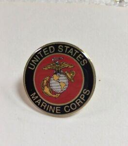 "1"" USMC Lapel Pin United States Marine Corps  w/ locking clutch MADE IN USA"