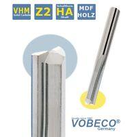 VHM Schaftfräser Z=2 gerade NUT für Holz, MDF 3 - 8mm lange Version NEU  VOBECO