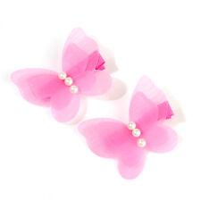 2x Mini Kids Baby Chiffon Butterfly Girls Princess Hair Pin Headwear Hair Clips