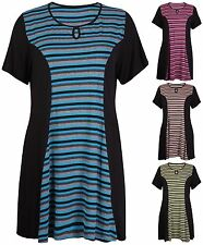 Short Sleeve Striped Stretch Tops & Shirts for Women