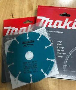 Makita A-80438 125mm x 2.0mm x 22.23mm Diamond wall chaser Blade x 2