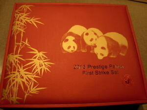 China 2013 Gold 5 Coin Full Prestige Panda First Strike Set All Coins PCGS MS69