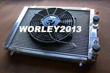Aluminum radiator + fan for Lancia Delta HF Integrale 8V 16V EVO 2.0 turbo 87-95