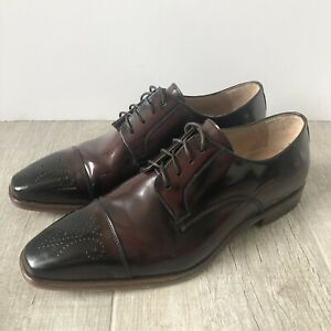 """Giovacchini """"Mike"""" Burgundy Cap Toe Oxford Leather Dress Shoes Men's Size 9.5 D"""