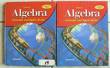Glencoe ALGEBRA Concepts and Applications, Student Volumes 1&2 2004 Nice!