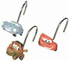 Disney Pixar Cars 2   12 Shower Curtain Hooks Rings