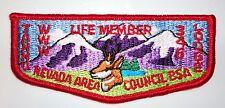 Tannu Lodge 346 Life Member OA Flap - Nevada Area Council