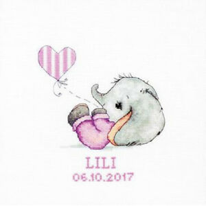 Luca-S ~ Counted Cross Stitch Kit ~ Baby Girl ~ Birth Record ~ B1133
