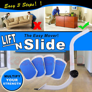 NEW Furniture Lifter Moves with EZ Mover Sliders Kit Home Moving Lifting System