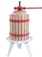 1.6 Gallon Fruit Wine Press Cider Grape Crusher Wood Basket Juice Maker