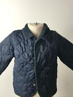 BOYS UNITED COLOURS OF BENETTON NAVY QUILTED COAT JACKET KIDS AGE 12-18 MONTHS