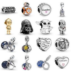 Authentic Silver Star Wars Series Child Charm BB-8 Charm fit European Bracelet