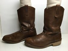 VTG MENS RED WING PECOS WORK BROWN BOOTS SIZE 9.5 E3