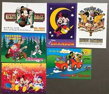 # T1379    WALT DISNEY  CHARACTERS  POSTCARD LOT,  6  DIF. CARDS,   MICKEY MOUSE